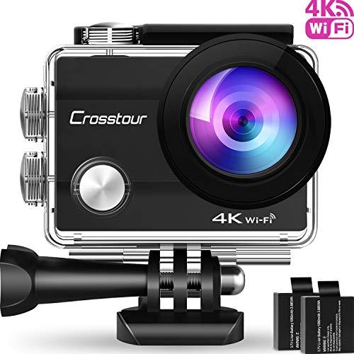 Crosstour Action Cam WiFi Sports Aktion Kamera 4K 12MP Ultra HD 2