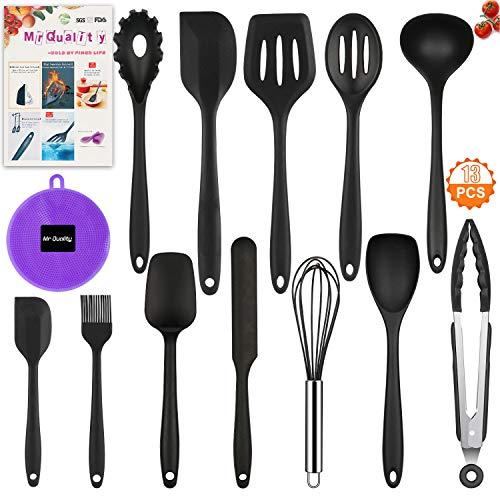 Mr Quality 13pcs utensili da cucina in silicone antiaderente Set di utensili da cucina in lavastoviglie Set da cucina resistente al calore 13pezzi