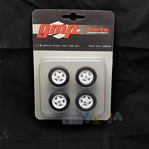 Pony Wheels and Tires Set of 4 Pieces from 1992 Ford Mustang LX 1/18 by GMP 18852