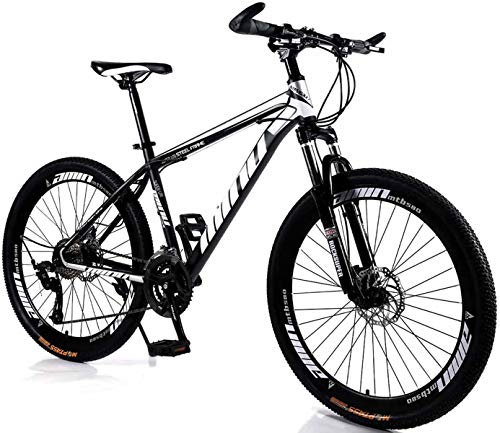 Ucaoorlden Full Mountain Bike for Mens and Womens folding Bikes Adults Professional 21 Speed Gears 26 inch Bicycle Twist Shift Black