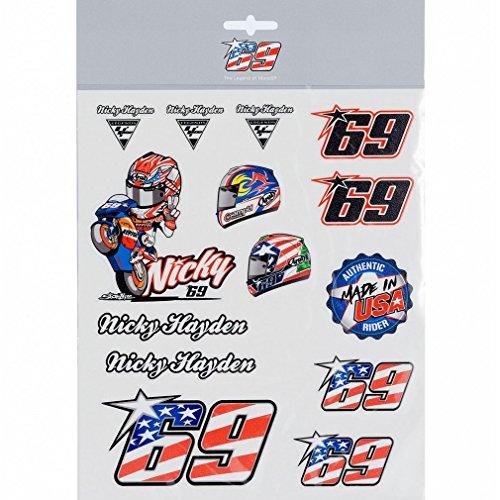 Nicky Hayden 69 Moto GP Pegatina Set Oficial 2018