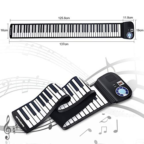 Best Deals! Safeplus Piano Keyboard 88 Keys Touch Sensitive Portable Keyboard with Power Supply
