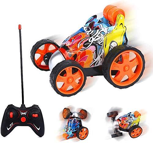 OVAREO Ferngesteuertes Auto, 2.4GHz Kinder Spielzeugauto Fahrzeug 360° Drehung Auto Ferngesteuerter Rennfahrer Stunt Auto Elektrisch Motorräder für Kinder Jungen Mädchen