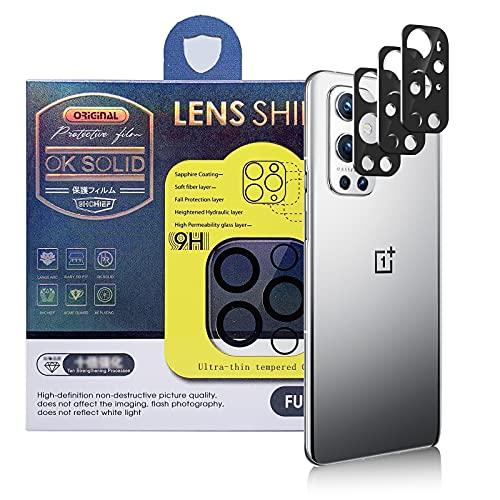 Qoosea [3 Piezas Protector de Lente de Cámara Compatible con OnePlus 9 Pro, HD Vidrio Templado Película de Cámara Trasera Lente Pantalla Resistente a Rayones
