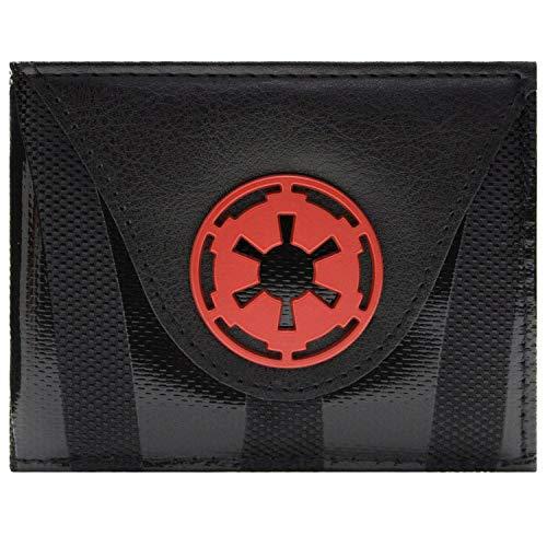 Cartera de Star Wars Galactic Empire Símbolo Rojo Negro