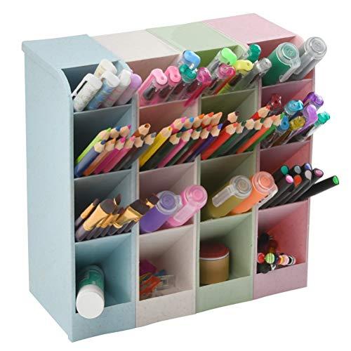 4 Stück Stiftehalter Organizer,Schreibtisch Stifteköcher, Wheat Straw Schreibtisch-Stifte-Organizer – Halter für Büro/Lehrer/Schulbedarf/Marker/Gelstifte/Pinsel