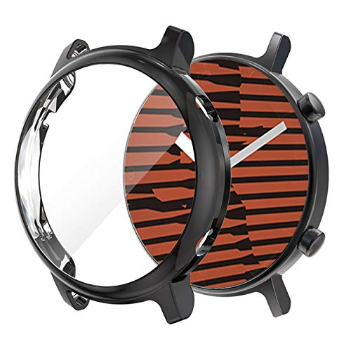 BZN Smart Watch Case per Huawei GT2 42mm placcatura TPU Shell Protettiva all-Inclusive (Color : Black)