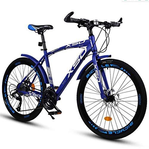 Mountain Bike bicicletta MTB Sportiva da Montagna 26' Mountain Biciclette Sospensione Doppia Completa 21 Velocità MTB Bike Leggera In Acciaio Al Carbonio Telaio Frenanti A Disco For Le Donne Gli Uomin