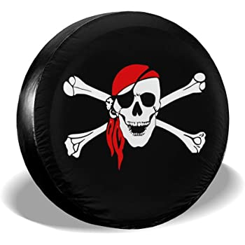 SUV and Many Vehicle Foruidea White Skull Spare Tire Cover Waterproof Dust-Proof UV Sun Wheel Tire Cover Fit for Jeep,Trailer RV 14, 15, 16, 17 Inch