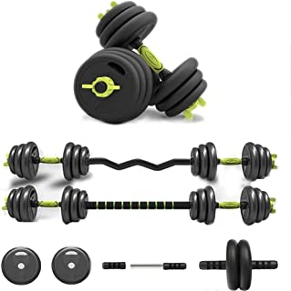 Y&J Adjustable Dumbbells Free Weight Dumbbell Sets Fitness Dumbbell Sets Multifunctional Dumbbell Sets Connecting Rod Can Be Used As Barbell and Abdominal Muscle Wheel