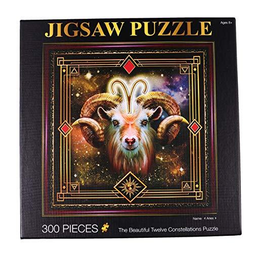 TOYANDONA Volwassen Puzzel 12 Sterrenbeelden Puzzel Van 300 Stukjes Voor Kantoor Aan Huis Spelen Spel Speelgoed (Ram Patroon)