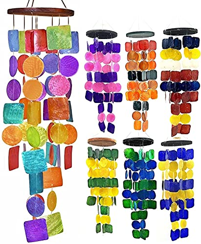 Bellaa Wind Chimes Garden Outdoor Home Decor Unique Chime Gift Backyard Patio Porch Large 27 inch Rainbow