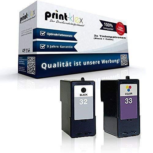 Kompatible Tintenpatronen Sparset für Lexmark NO 32 + 33 X5430 X5435 X5450 X5470 X5470 Business Edition