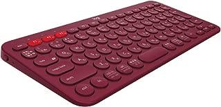 ロジクール ワイヤレスキーボード 無線 キーボード 薄型 小型 K380RD Bluetooth K380 ワイヤレス マルチOS: Windows Mac iOS Android Chrome
