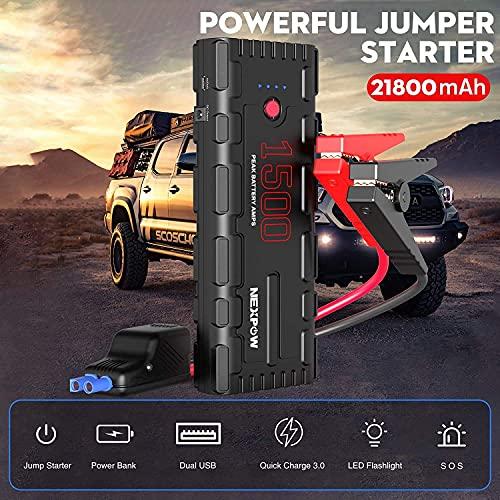 NEX POW Booster Batterie Voiture, 1500A Peak 21800mAh 12V Po