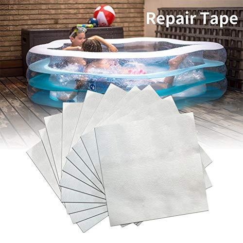 Pepional Pool Patch, aufblasbares selbstklebendes Reparaturband, interne und Externe Folie reparieren, 30 Stück 5x5 cm Klebepflaster, Reparaturfolie zur Reparatur von Rissen