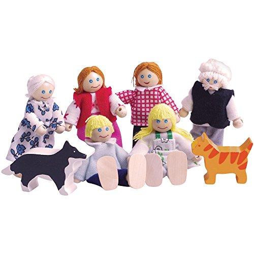 Bigjigs Toys Heritage Playset Doll Family
