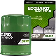 ECOGARD S2500 Premium Spin-On Engine Oil Filter for Synthetic Oil Fits Ford F-150 3.5L 2011-2021, F-150 5.0L 2011-2020, Explorer 3.5L 2011-2019, Edge 3.5L 2009-2018, Taurus 3.5L 2009-2019
