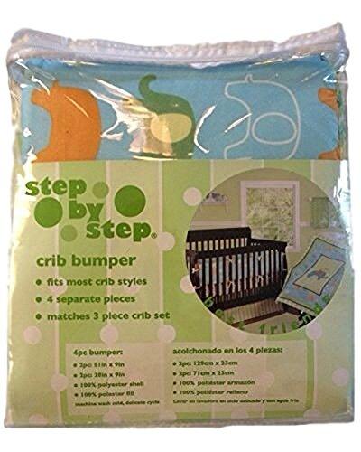 Step By Step Baby Crib Bumper - Animals Best Friends