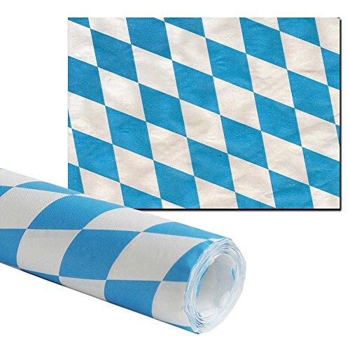 Damasttischtuchrolle Bayernraute 8m lang 1m breit