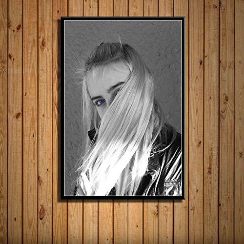 fdgdfgd Música Pop clásica Modelo de Estrella Pintura artística Lienzo de Seda póster Pared decoración del hogar Obras de Arte 50x70cm
