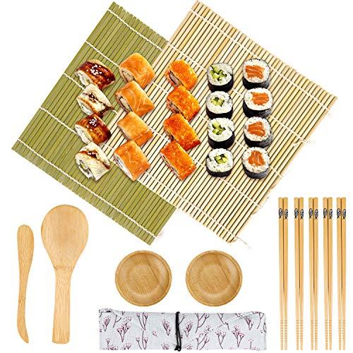 12 PCS Hacer Sushi kit Sushi Maker - 2 Esterilla sushi de