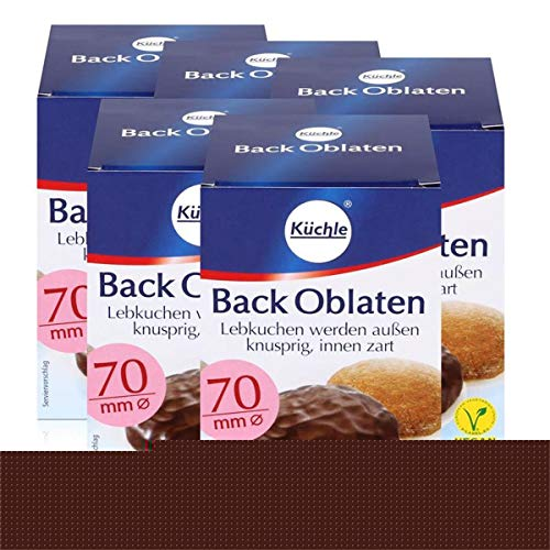 Küchle runde Back Oblaten 70mm Ø 71g - Lebkuchen bleiben innen zart (5er Pack)