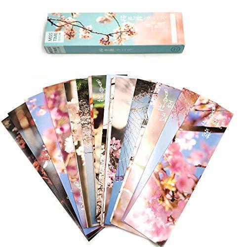 Set di 30 segnalibri in stile giapponese motivo fiori di ciliegio segnapagina per bambini donne studenti segnalibri di carta segnalibri per leggere scuola premi lauree ufficio piccoli regali