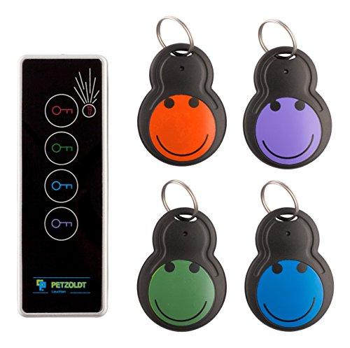 Schlüsselfinder Funk KEY-FINDER - Der schnelle Weg Dinge zu finden! Der KEY-BEEPER ist mit akustisch 75Db++ ein lauter Tracker. Zubehör: 1 Sender, 4 Empfänger sowie 5 + 2 extra Batterien - ohne Bluetooth