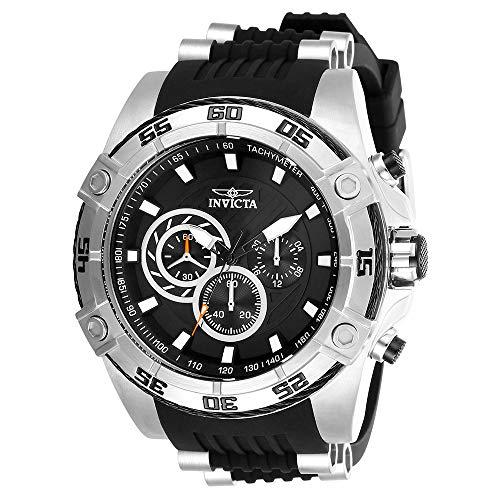 Invicta Men's Speedway Stainless Steel Quartz Watch with Silicone Strap, Black, 26 (Model: 28227