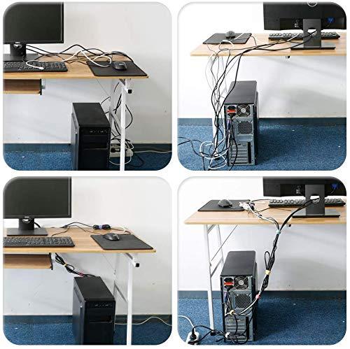 Surepromise 100 Schwarz Kabel-Klettband Kabelklett Kabelbinder Klettbinder Klettverschluss Büro