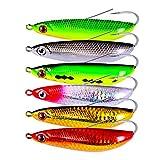 AMHDV Fishing Spoon Weedless Minnow Hard Bait Fishing Lures Rattling Saltwater Freshwater Baits