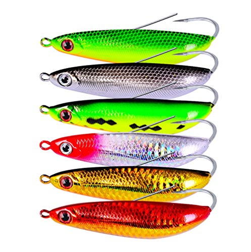 AMHDV Fishing Spoon Weedless Minnow Hard Bait Fishing Lures Rattling Saltwater Freshwater Baits