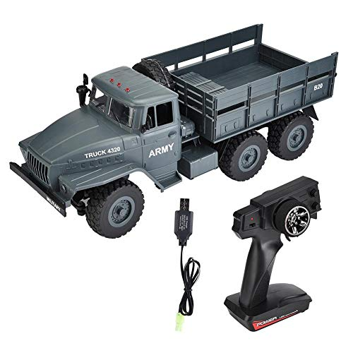 Alomejor MZ 2004 1/12 Scale 2.4G Remote Control Military Truck RC 6WD Model Car Off-Road to(001)