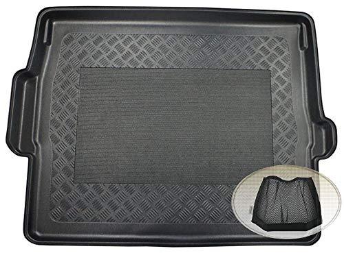 ZentimeX Z3080139 Antirutsch Kofferraumwanne fahrzeugspezifisch + Klett-Organizer (Laderaumwanne, Kofferraummatte)