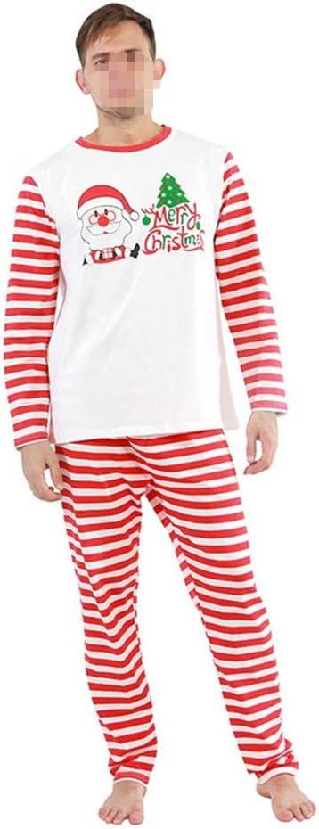 SETSCZY Family Christmas Pyjamas Set Matching Sleepwear for Women Men Mum Dad Children Kids Baby Xmas Nightwear Homewear Tops and Pants Family Clothes,Mens,L