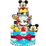 KanonBabys おむつケーキ 男の子 ミッキー ディズニー 出産祝い 3段 Sサイズ 4001