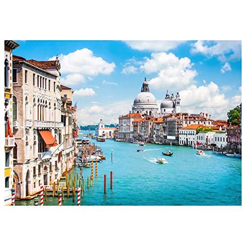 Eariy 500 Teile Puzzle,Venedig Landschaft,Schöne Landschaft Karton Puzzle,Intellektuelles Spiel,Schönes Geschenk für Kinder über 6 Jahre
