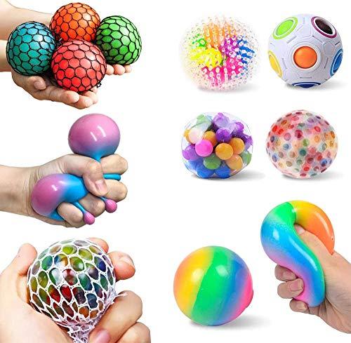 8-teiliges Anti Stress Spielzeug Set, Stressabbau Ball Sensory Zappelspielzeug Set, Stressabbau Antistress Squeeze Spielzeug gehörthen Sie den Fokus für Erwachsene und Kinder