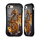 Head Case Designs Officially Licensed Stanley Morrison Gold Steampunk Drink Dragons Hybrid Case Compatible With Apple iPhone 7 / iPhone 8 / iPhone SE 2020