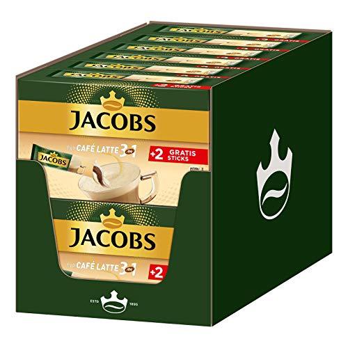 Jacobs Kaffeespezialitäten 3 in 1 Typ Café Latte, 144 Sticks mit Instant Kaffee, 12 x 10+2 GetränkeJacobs Kaffeespezialitäten 3 in 1 Typ Café Latte, 144 Sticks mit Instant Kaffee, 12 x 10+2 Getränke
