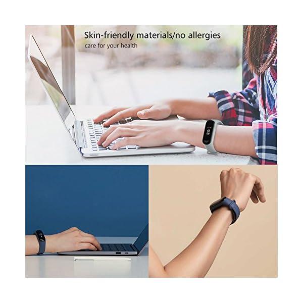 BRone Pulsera para Xiaomi Mi Band 3 / Mi Band 4, Coloridos Impermeable Reemplazo Correas Reloj Silicona Correa para… 8