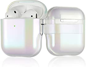 AirPods Case 6 in 1 Airpods Accessories Kits White Hard Stylish Protective Cover for Apple AirPods 1st/2nd (Front LED Visible) with Belt Clip, Carabiner/Strap/Earhooks/Watch Band Holder by KINGXBAR