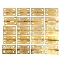 ちょうつがい 金具20個34x22mmアンティークブロンズ/ゴールドキャビネットヒンジ家具アクセサリーウッドボックス装飾ヒンジ家具付属品-ゴールド