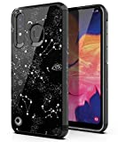 PBRO Galaxy A20 Case,Galaxy A30 Case,Galaxy A50 Case Cute Universe Case Dual Layer Soft Silicone & Hard Back Cover Heavy Duty PC+TPU Protective Shockproof Case for Samsung Galaxy A20/A30/A50-Black