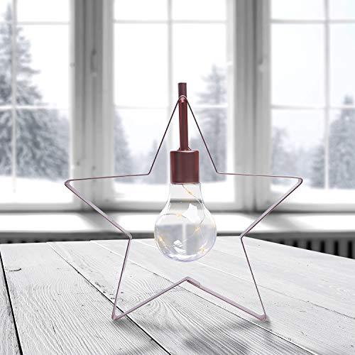 DecoKing 5er LED Stern LED Lampe warmweiß Batteriebetrieb dekoratives Licht Deko Star Prince