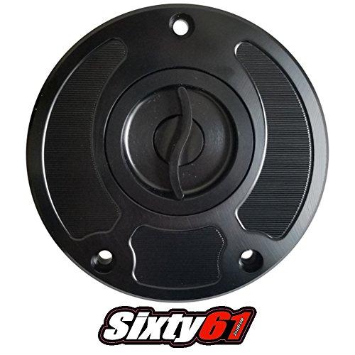 Sixty61 Black Gas Cap for Kawasaki ZX10 ZX10R 2007-2019 Fuel Tank Keyless