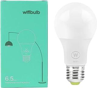 LAIYYI WiFi smart glödlampa, 6,5 W E27 skruvbas LED-glödlampa, app fjärrkontroll, kompatibel med Alexa/Google Assistant/IF...