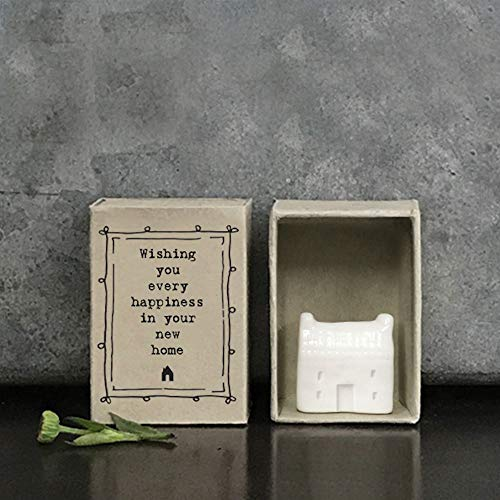 East of India MINI Matchbox Wishing you every happiness in your new home | New Home Gift | Keepsake House Move Gift | Letterbox Gift