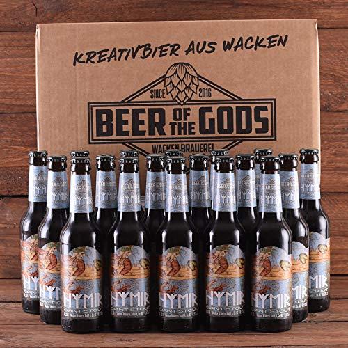 Wacken Brauerei Hymir Giant Stout - Pack de cervezas caseras - 18 botellas de 0,33 l de cerveza stout oscura - La cerveza de los dioses - 2ª posición del World Beer Award de cervezas negras
